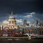 St Pauls and Millenium Bridge by JzaPhotography