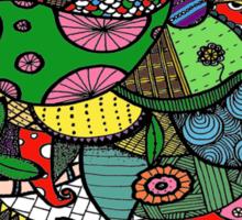 Doodle Throne (Colour) Sticker
