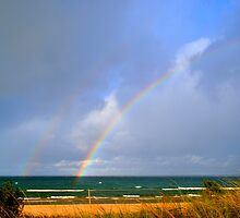 Double Rainbow 2 by Debbie  Maglothin