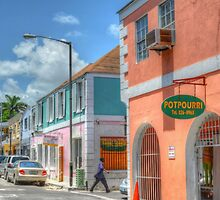 Market Street in Downtown Nassau, The Bahamas by 242Digital
