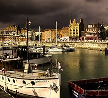Ramsgate Harbour before the storm by Ian Hufton