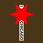 I ✶ Chicago iPhone Case (Brown) by Chicago Tee