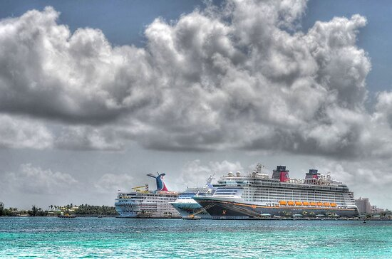 Cruise Ships at the Prince George Wharf Port in Nassau, The Bahamas by 242Digital