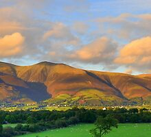 The Lake District: Evening Light Over Skiddaw by Rob Parsons