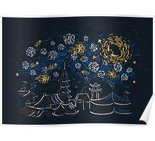 Ninja Starry Night Poster