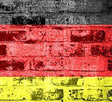 Germany Flag Vintage by Nhan Ngo