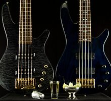 Two Bass Guitars and Tequila by CPGolden