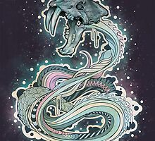 Saber-toothed Serpent in Space by MatMiller