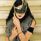 Masked Woman on the Stairs by photobylorne