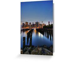 Blue Manhattan Greeting Card