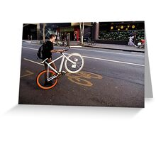 Street Bikes Greeting Card