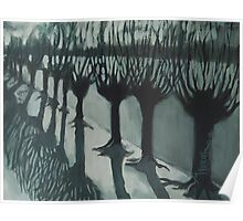 Leaving Falls - Willow Trees Painting Poster
