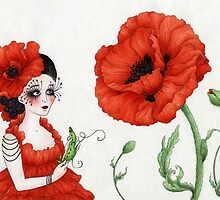 Pea-Shell Playing Poppy by Mariya Olshevska