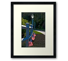 Fourth Of July Fence Framed Print