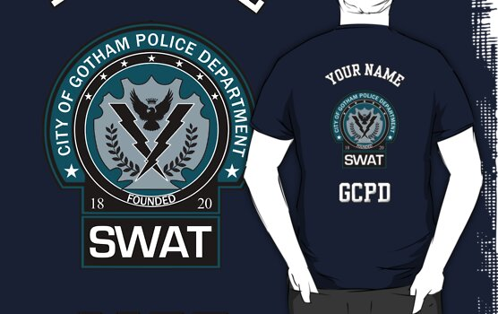 Custom Gotham Police - SWAT - EXAMPLE ONLY - SEE DESCRIPTION by CallsignShirts