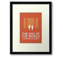 Minimalist 'The End of the World'  Poster Framed Print
