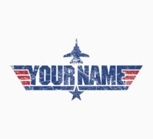 Custom Top Gun Style - Blue (Distressed) - EXAMPLE ONLY - SEE DESCRIPTION by CallsignShirts