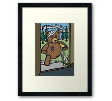 Teddy Bear And Bunny - Home From The War Framed Print