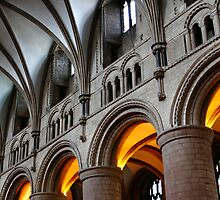 Gloucester Cathedral, Lights. by Maybrick