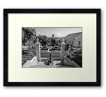View of Downtown Nassau from Government House - The Bahamas Framed Print