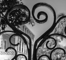 Closed Gate in Downtown Nassau - The Bahamas by 242Digital