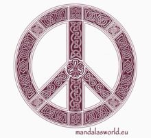 Celtic Peace Symbol Garnet by Mandala's World