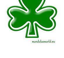 Celtic Shamrock n1 Green by Mandala's World