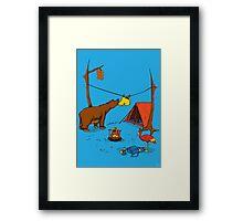 Bear and Bird Framed Print