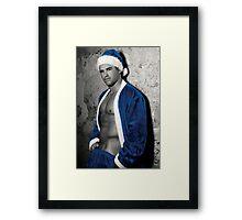 Blue Dec Framed Print