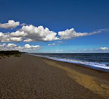 Dunwich Beach Suffolk by Darren Burroughs