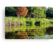 I Indeed Baptize You With Water Canvas Print