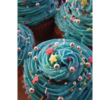 Cupcakes in Blue Photographic Print