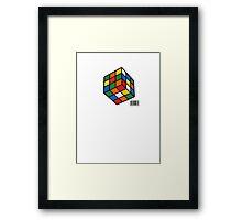 Just Rubik Framed Print