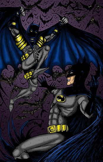 Batman vs Batman by Jay Stuart