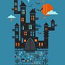 Halloween castle by mmedusssa