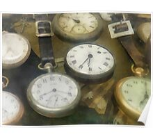 Vintage Pocket Watches Poster