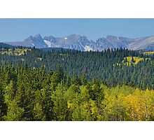 Colorado Rocky Mountain Continental Divide Autumn View Photographic Print
