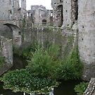 Raglan Castle and moat, Wales by Grace Johnson