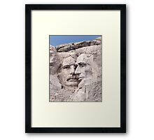 Theodore Roosevelt and Abraham Lincoln, Mount Rushmore National Memorial  Framed Print