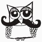 Moustache Owl by annieclayton