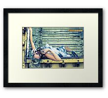 steampunk foil Framed Print