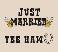 Just Married Cowboy by FamilyT-Shirts