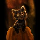 Halloween Kitty ~iPhone case by murals2go