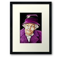 Margaret Rutherford plays Miss Jane Marple Framed Print