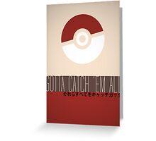 Minimalistic Pokémon Greeting Card