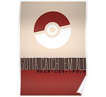 Minimalistic Pokémon Poster