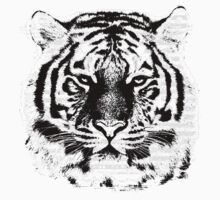 Black and White Tiger Face  Kids Clothes