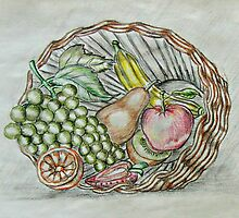 basket fruits  by thuraya o