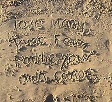 Sayings in the Sand - Love Many by SkyZW