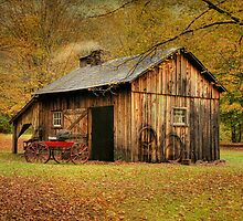 Autumn At Millbrook Village - The Blacksmith Shop by Pat Abbott